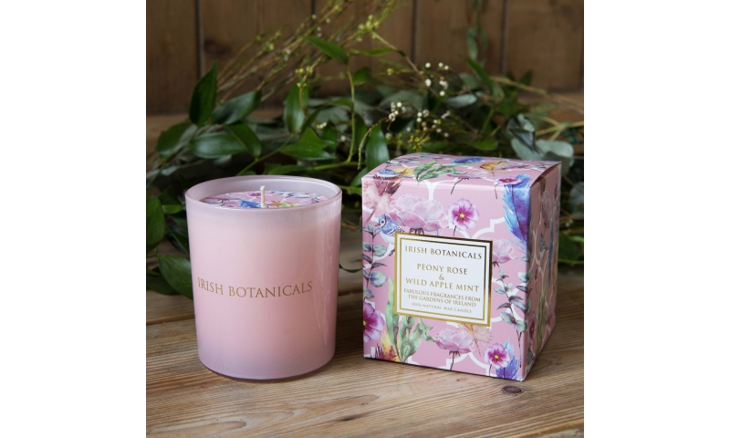 IRISH BOTANICALS PEONY AND WILD APPLE MINT CANDLE