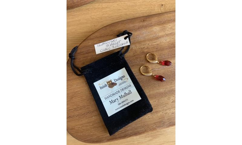 Swarovski Scarlet Zirconia Earings